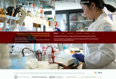 Weill Cornell Medical College's Web Site Redesign