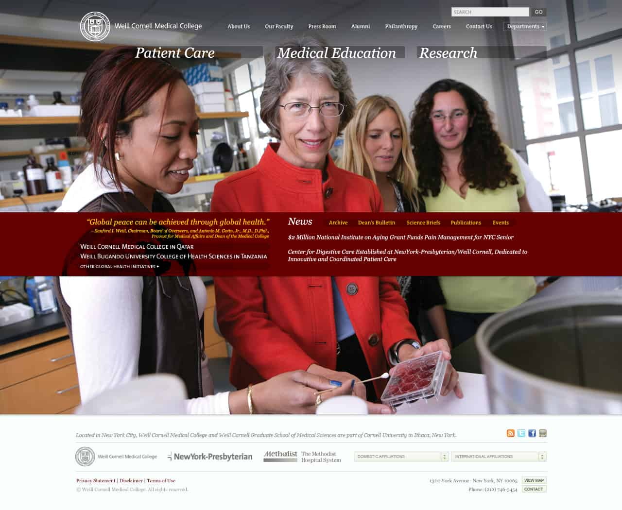 Weill Cornell Medical College's Web Site Redesign – Virgil Wong