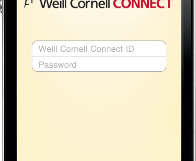 myChart iPhone App for Weill Cornell Physicians