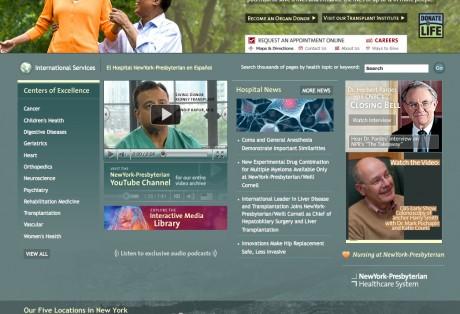 NewYork-Presbyterian Hospital Web Site (2005-2012)